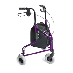 Homecraft Three-Wheeled Rollator with Cable Brakes thumbnail image 1