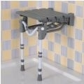 Tooting Slatted Shower Seat with Legs thumbnail image 1
