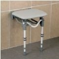 Tooting Wall Mounted Padded Standard Shower Seat thumbnail image 1