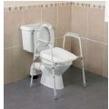 Stirling Width Adjustable Toilet Frame with Padded Arms thumbnail image 1
