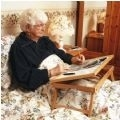 Adjustable Wooden Bed Tray thumbnail image 1
