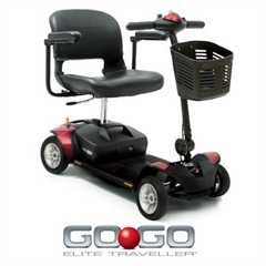 Pride Go Go Elite Traveller 4 Wheel Mobility Scooter thumbnail image 1