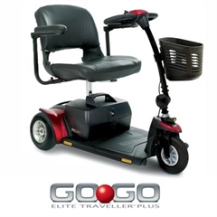Pride Go-Go Elite Traveller Plus  3 Wheel Mobility Scooter thumbnail image 1