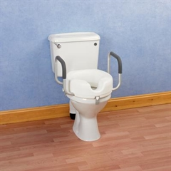 Raised Toilet Seat with Arms thumbnail image 1