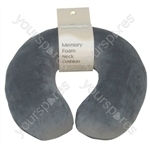 GREY MEMORY FOAM NECK CUSHION thumbnail image 1
