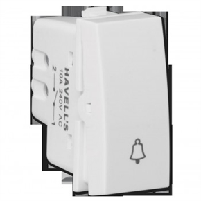 Havells Pearlz 6Ax Bell Push Switch thumbnail image 1