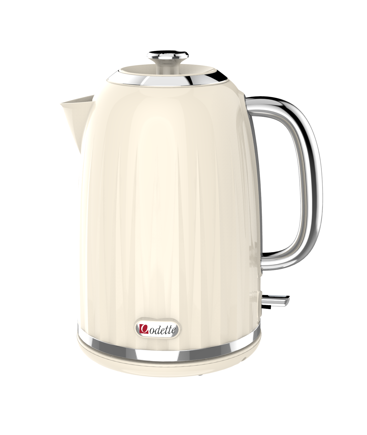 1.7L Retro design Electric Kettle - Beige thumbnail image 1