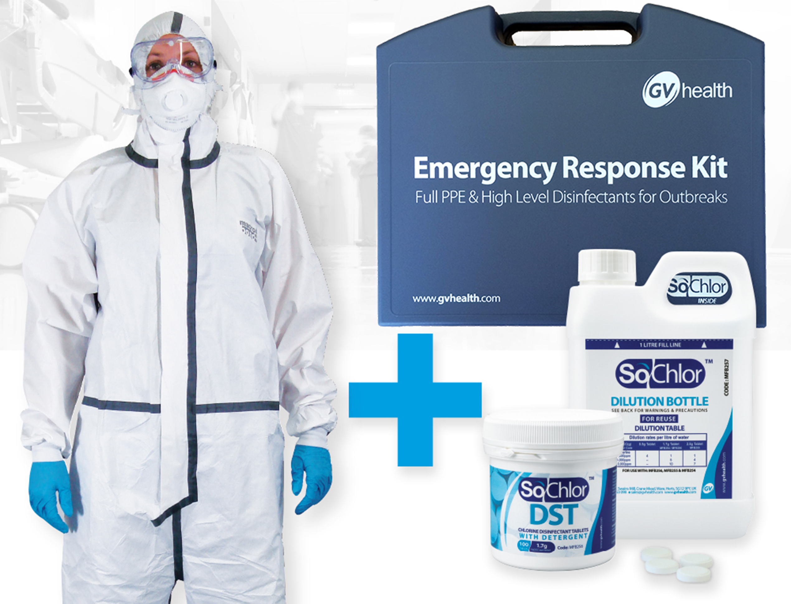 GV Health Emergency Containment & Disinfection Kit Full PPE Type 4,5,6 Coverall thumbnail image 1