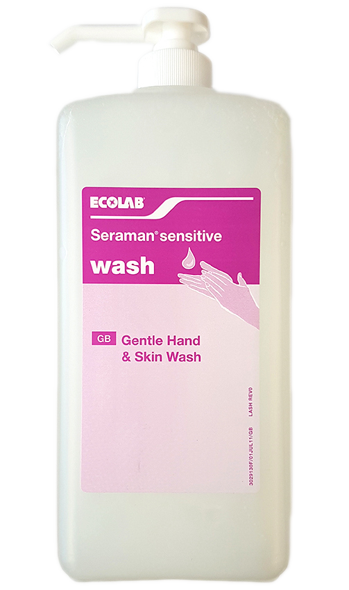Ecolab Seraman Sensitive Gentle Cleansing Wash, 1 Litre x6 thumbnail image 1