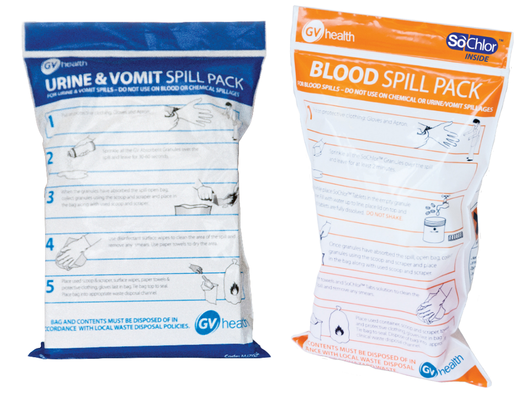 GV Health Biohazard Spill Duo Pack - Blood & Urine/Vomit thumbnail image 1