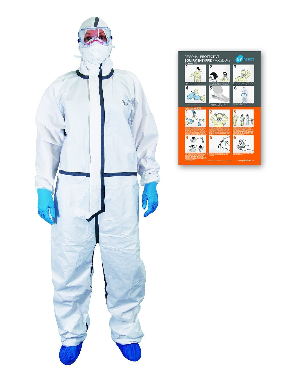 GV Health Containment Coverall with Hood- Cat 3 Type 4, 5, 6 thumbnail image 1