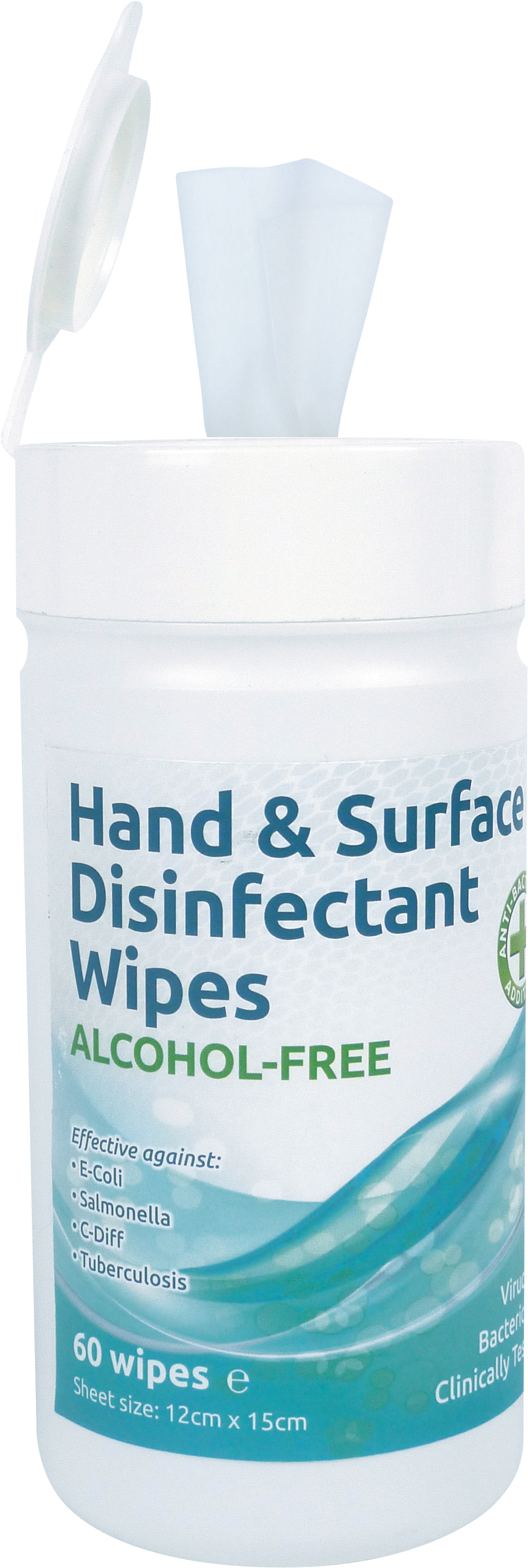 Surface Anti-bacterial Alcohol Free Disinfectant Wipes  thumbnail image 1