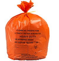 20L Small Orange Medium Duty Clinical Waste Bags (50 Bags) thumbnail image 1