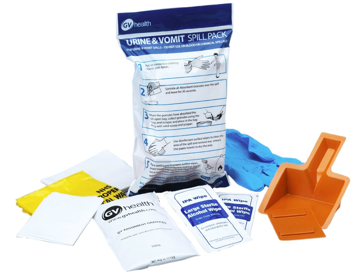 GV Health Vomit and Urine Spill Pack thumbnail image 1