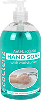 500ml Hand Soap with Moisturiser - Antibacterial Kills 99.9% of germs  thumbnail image 1