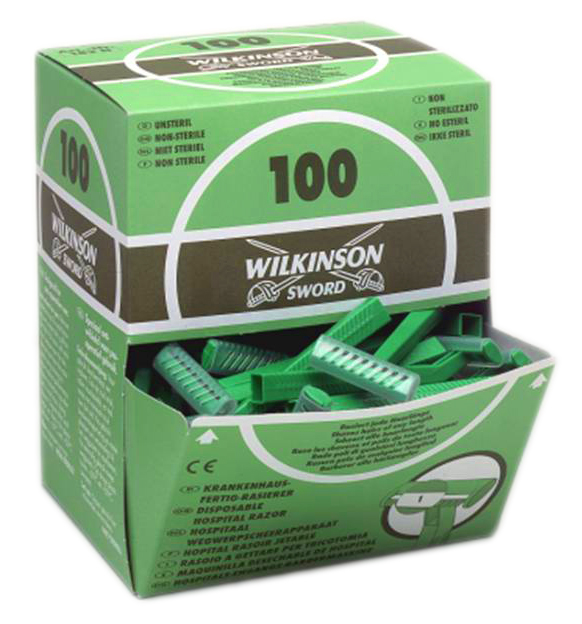 Wilkinson Sword Disposable Razors box of 100 Skin Prep Razors thumbnail image 1