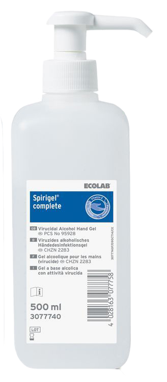 Spirigel Complete, Virucidal Alcohol Hand Gel, 500ml thumbnail image 1