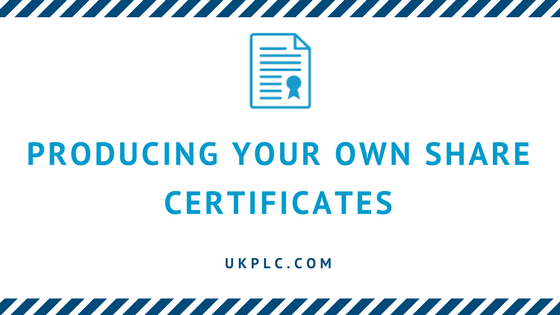 Producing Your Own Share Certificates