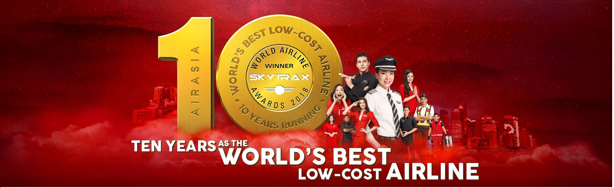 Worlds best low cost airline 10 years running